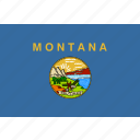 american, flag, montana, rectangular, state icon