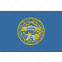 american, flag, nebraska, state icon