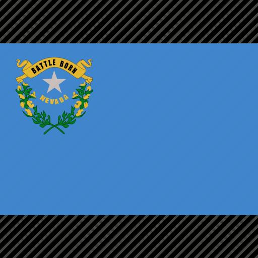 american, flag, nevada, rectangular, state icon