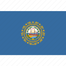 american, flag, hampshire, new, new hampshire, rectangular, state icon