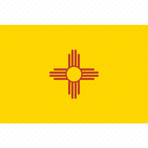 american, flag, mexico, new, new mexico, rectangular, state icon