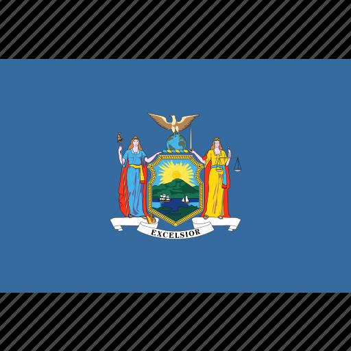 american, flag, new, new york, rectangular, state, york icon