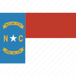 american, carolina, flag, north, north carolina, rectangular, state icon