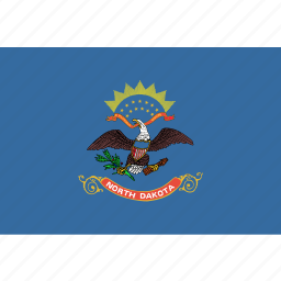 american, dakota, flag, north, north dakota, rectangular, state icon