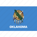 american, flag, oklahoma, rectangular, state icon