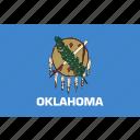 american, flag, oklahoma, rectangular, state icon