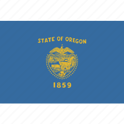 american, flag, oregon, rectangular, state icon