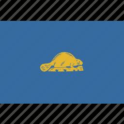 american, flag, oregon, rectangular, reverse, state icon