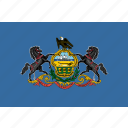 american, flag, pennsylvania, rectangular, state icon