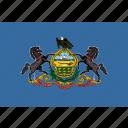 american, flag, pennsylvania, rectangular, state icon