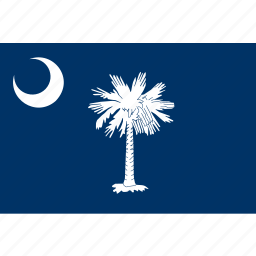 american, carolina, flag, rectangular, south, south carolina, state icon