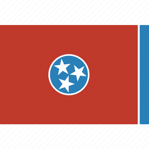 american, flag, rectangular, state, tennessee icon