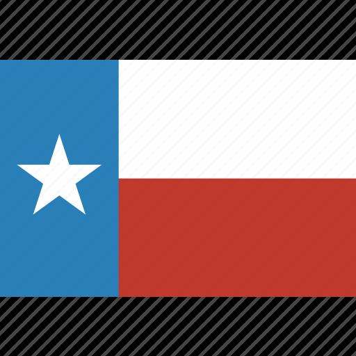american, flag, rectangular, state, texas icon