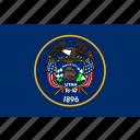 american, flag, state, utah icon