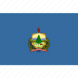 american, flag, rectangular, state, vermont icon