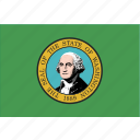 american, flag, rectangular, state, washington icon