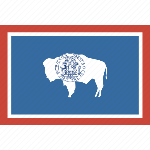 american, flag, rectangular, state, wyoming icon