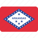 american, arkansas, flag, state icon