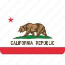 america, california, flag, state icon
