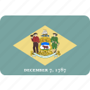 american, delaware, flag, state icon