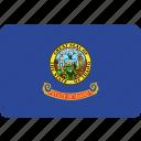 american, flag, idaho, state icon