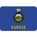 american, flag, kansas, state icon