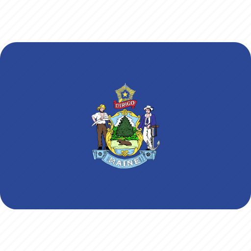 flag, maine, state, us icon