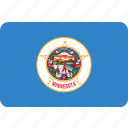 flag, minnesota, state, us icon