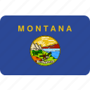 flag, montana, state, usa icon