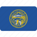 flag, nebraska, state, us icon