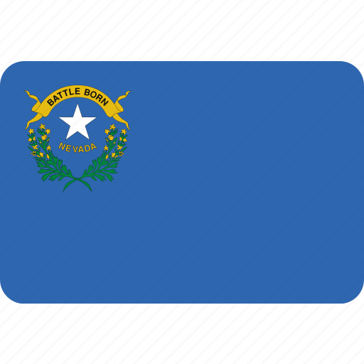 american, flag, nevada, state icon