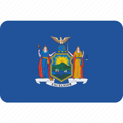 american, flag, new, state, york icon