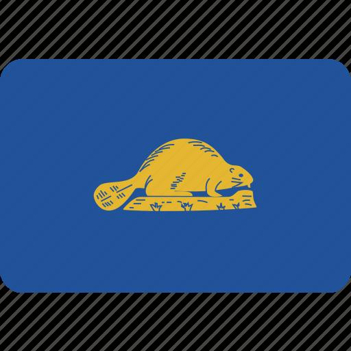 flag, oregon, reverse, state icon