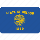 america, flag, oregon, state icon