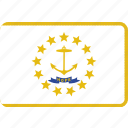 flag, island, rhode, state, us icon