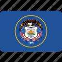 america, flag, state, utah icon