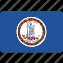 flag, state, us, virginia icon