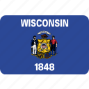 flag, state, usa, wisconsin icon
