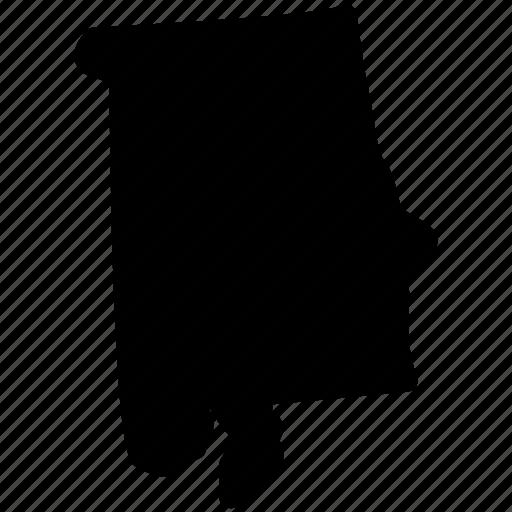 alabama, alabama map, alabama state, map icon