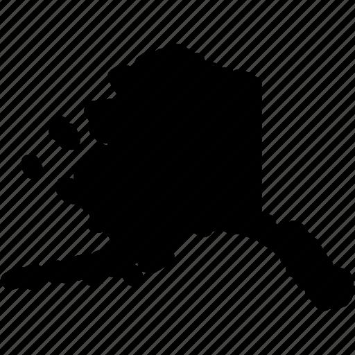 alaska, alaska map, alaska state, map icon
