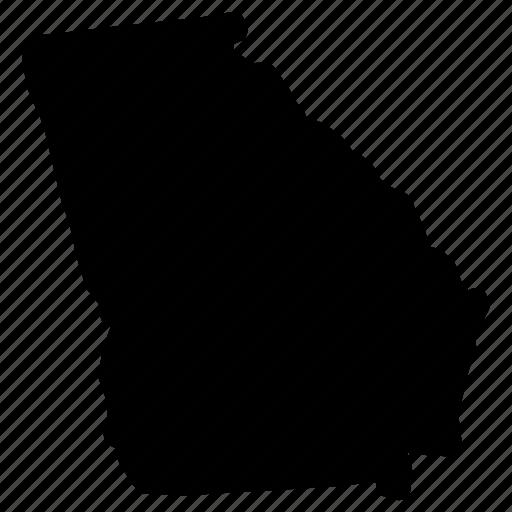 Georgia, georgia map, georgia state, map icon