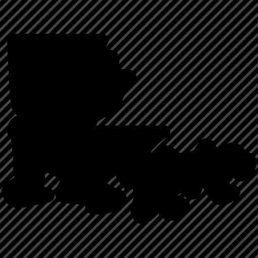 louisiana, louisiana map, louisiana state, map icon