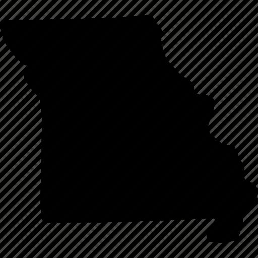 map, missouri, missouri map, missouri state icon