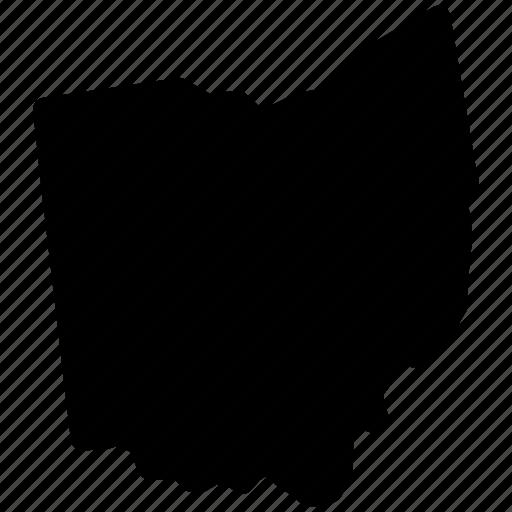 Ohio On State Map.Map Ohio Ohio Map Ohio State Icon