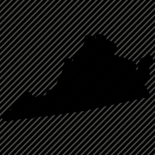 map, virginia, virginia map, virginia state icon