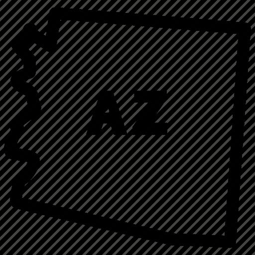 arizona, arizona map, arizona state, az map icon