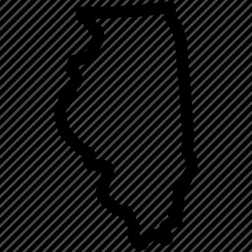 illinois, illinois map, illinois state, map icon