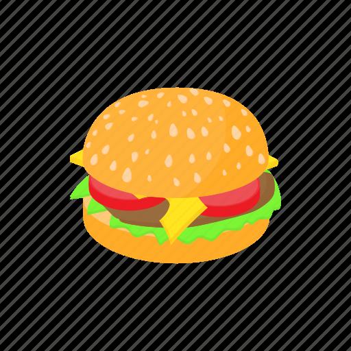 beef, bun, burger, cartoon, food, hamburger, sandwich icon