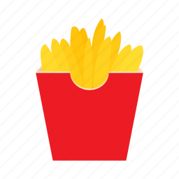 cartoon, fast, food, french, fry, potato, snack icon