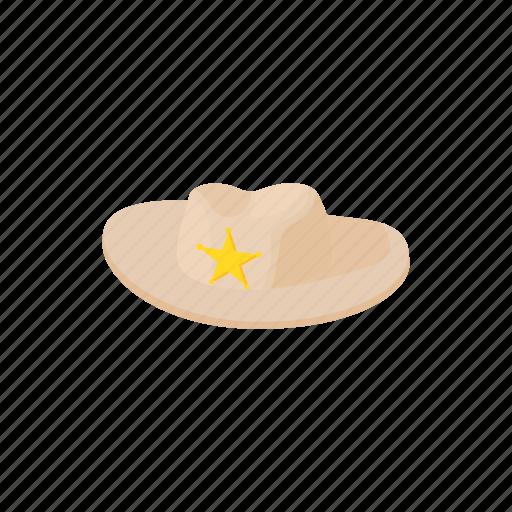 aussie, cartoon, felt, gold, hat, outback, star icon